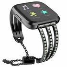 Stainless Steel Diamond Wrist Watch Band Bracelet Straps for Fitbit Versa 2/Lite