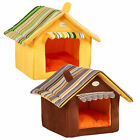 Fashion Stripe Soft WarmRemovable Small Medium Pet Dog Puppy Cat House Bed  ur