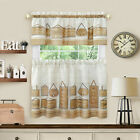 Home~Sweet~Home Country 3 Pc Café Kitchen Curtain Set - Assorted Colors & Sizes