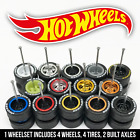 Hot Wheels Real Riders Wheels and Tires Set for 1/64 Scale (5 Spoke Deep Dish)