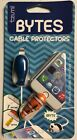 Tzumi Bytes Cable Protectors Accessory for Universal Cables-Multiple characters