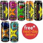'Rockstar Energy Drink. Variety Flavours. (12 X 500ml). Free Next Day Delivery*