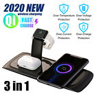 3 in 1 Wireless Charging Dock Charger Stand Station For Apple Watch Serie iPhone