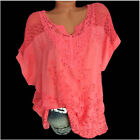 Women Summer Casual Short Sleeve T Shirt V-Neck Tunic Tops Solid Loose Blouse
