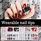 24pc False Nail Artificial Tips Set Full Cover Press On Nails Art Fake Extension