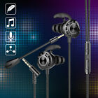 3.5mm HIFI Bass Wired Gaming Earphone In-Ear Headset Stereo Earbud Headphone Mic