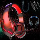 3.5mm Gaming Headset Headphones LED MIC Surround Sound Wired for PC Xbox One PS4