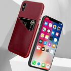 Shockproof Leather Card Slot Wallet Back Case Cover For Iphone Xs Max X 7 8 Plus