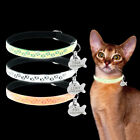 Elastic Reflective Pet Dog Cat Collars with Bell and Personalised Tag Engraved