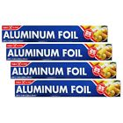 Table King Standard Aluminum Foil Roll Wrap 11.8 in x 25 ft pack of 2 / 4 / 6