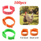 100Pcs Poultry Bands Foot Ring Leg Clip Set For Chicken Duck Bird Pigeon Parrots