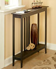 Slim Entryway Home Accent Table with Antique Finish