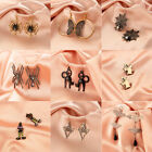 Funny Gothic Halloween Ghost Spider Skull Earrings Female Horrified Eardrop