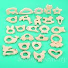 1Pc Baby Shower Gifts Animals Shape Wood Teether Natrual Baby Teether Toys