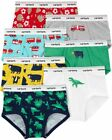 NWT Carter's Boys Sz 4/5 6/7 or 8 7-Pack Cotton Briefs Underwear Fire Truck Dino