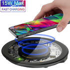 15W Qi Wireless Charger Fast Charging Pad Mat Dock For iPhone XS XR Samsung S10
