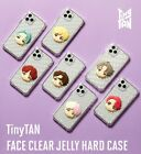 Official BTS TinyTan Character Face Clear Jelly Hard Phone Case Cover Authentic