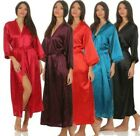 Ladies Long Kimono Nachtmantel Silk Robe Dressing Gown, S M L XL 2XL 3XL
