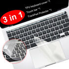 Clear Touch bar Film Keyboard Cover TrackPad Protector for MacBook Pro 13 15 16