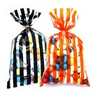 Orange Black Halloween Trick Or Treat Party Sweet Candy Loot Bag Favour 3 SIZES