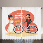 Bike Party Curtains Wedding Couple Bicycle