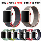 Sport Nylon Woven Loop Strap Iwatch Band For Apple Watch Series 6 5 4 3 21 40 44