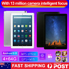 10.1 Inch Android 9.0 Bluetooth Tablet 4+64gb Wifi 1080p Pc Dual Camera Sim Gps