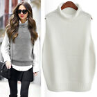 Lady Knit Vest Top Sleeveless Sweater Jumper Pullovers Warm Loose Outwear Casual