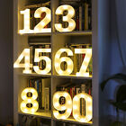 22cm LED Light Up Numbers White 0-100 With Batteries Birthday Party Celebration