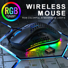 RGB Lightweight Wireless Gaming Mouse Hollow Honeycomb Shell Rechargeable Mice