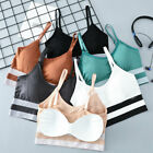 Women Padded Sports Yoga Bra Push Up Wire Free Lingerie Vest Tank Crop Tops Cami