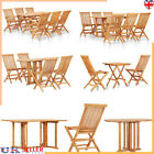 Garden Patio Table & Chairs Wooden Furniture Home Folding Outdoor Dining Set Uk