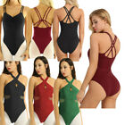 Women's Criss Cross Ballet Dress Gymnastics Skate Dance Dress Leotard Costume