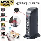 HD 1080P 5USB Hidden Mini Spy Camera Charger WiFi Adapter Home Security Cam