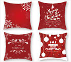 "18"" x 18"" Red Christmas Pillow Cover Xmas Throw Pillow Cases Sofa Cushion Cover"