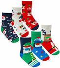 Boys Girls Christmas Socks 3 Pairs Set Xmas Cotton Ankle Socks New Kids 3 Pack