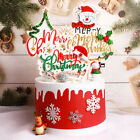 Merry Christmas Cake Flag Topper Cake Card Inserting Party Cake Decoration Us