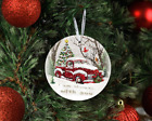 I Am Always With You Red Truck Noel Tree Memorial Christmas Ceramic Ornament