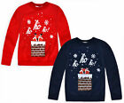 Kids Christmas Jumper New Boys Girls Xmas Santa Sweatshirt Top Ages 3-13 Years