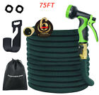3X Stronger Brass Deluxe Expandable Flexible Garden Water Hose (50,75,100ft)