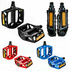 "Aluminum Alloy Flat Platform Bike Pedals 9/16"" Mountain Bicycle/MTB/BMX/Cycle UK"