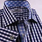 Best Classic Check Business Dress Shirt Men's Classic Formal French Cuff Style