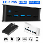 For Sony PS5 PS4 Pro Console 5-Ports Extend USB Hub Adapter High Speed Splitter