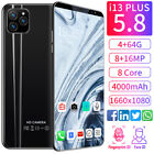 Unlocked i13  Smart Phone 5.8'' Android 9.1 HD Full Screen Cellphone Hot