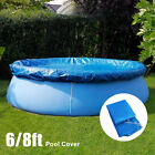 6FT 8FT Round Swimming Paddling Family Easy Set Pool Cover Protector Case USA
