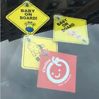 Baby On Board SAFETY Car Window Suction Cup Yellow REFLECTIVE WarningSign12CJ.gu
