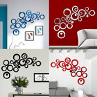 Self-adhesive Home Art Decor Circle Mirror Tiles Wall Stickers Bedroom Decal *-*