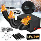 800W 12V/24V Car Truck Portable Auto Space Heater Heating Fan Defroster Demister