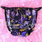 Bat Man RARE HERO Blue Sissy Mens SATIN String Bikini panties underwear