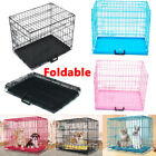 New Dog Cage Puppy Pet Crate Carrier with Tray- Small Medium Large Extra Large